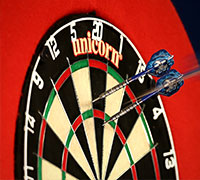 A clash of darts giants!